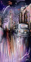 London Blues IV by Samantha Ellis -  sized 24x48 inches. Available from Whitewall Galleries